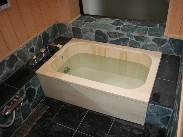 Rounded corners box deluxe wooden bath